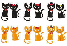 Set of cats -  illustration Stock Image
