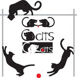 Set cats Royalty Free Stock Images
