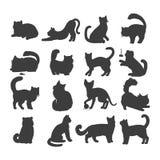 Set of Cats Vector Flat Design Illustration Royalty Free Stock Photos
