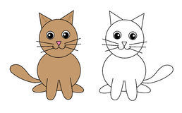 Set of cats, vector, illustration Royalty Free Stock Image