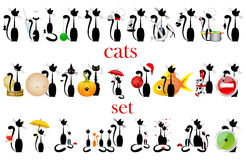 Set of cats. vector.  Royalty Free Stock Image