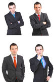 Set of caucasian  businessman Stock Images