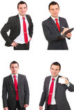 Set of caucasian  businessman Royalty Free Stock Image