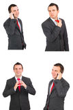 Set of caucasian  businessman Stock Photos