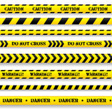 Set of caution tapes. Set of caution tapes on white background Stock Photography