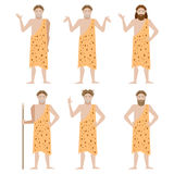 Set of Cavemen Stock Images