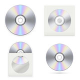 Set of the CD disks. Vector illustration Stock Photos