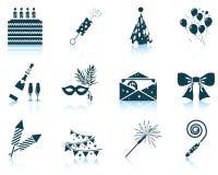 Set of celebration icons Royalty Free Stock Images