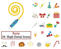 Set of 24 Celebration Icons Stock Images