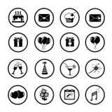 Set of celebratory icons, symbols. Vector. Stock Photo