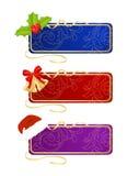 Set of celebratory labels Royalty Free Stock Image