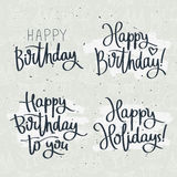 Set of celebratory labels birthday Stock Image