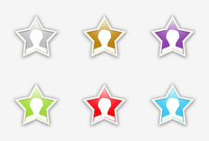 The set of celebrity stars icon Royalty Free Stock Photo