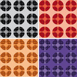 Set of cell Pattern Royalty Free Stock Photos