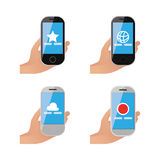 Set of cellphones Royalty Free Stock Images