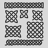Set celtów wzory i celtów elementy również zwrócić corel ilustracji wektora ilustracji