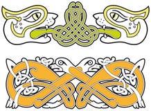Set of celtic animals design elements Stock Photography