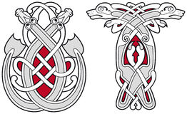 Set of celtic animals design elements Royalty Free Stock Photo