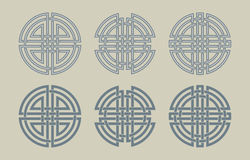 Set of the Celtic circles Royalty Free Stock Image