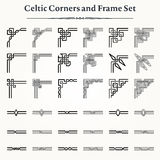 Set of Celtic Corners and Frames Stock Images