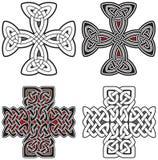 Set of celtic crosses design elements Royalty Free Stock Photos