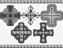 Set celtic crosses Royalty Free Stock Image