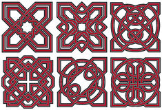 Set of celtic design elements Royalty Free Stock Photography