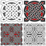 Set of celtic design elements Royalty Free Stock Photo