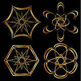 A set of Celtic floral decoration or tattoo art Royalty Free Stock Photos