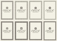 Set of celtic knot braided frames bordesr ornaments. A4 size. Royalty Free Stock Photo