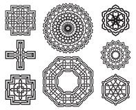 Set of celtic knot design elements Stock Photo
