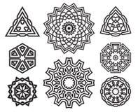 Set of celtic knot design elements Stock Photography