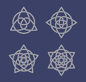 Set of celtic knot symbols Stock Photography