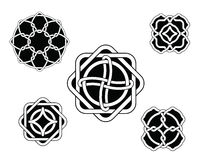 Set of celtic knots. Set of original celtic black and white ornaments Vector Illustration