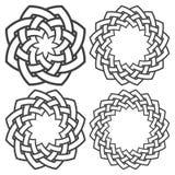 Set of celtic knotting circle Stock Image