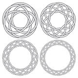 Set of celtic knotting rings Stock Photo