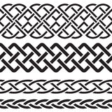 Set of Celtic Pattern Borders Stock Photo