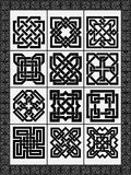Set celtic traditional signs Stock Image