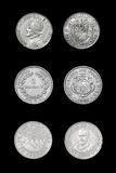 Set of Central American countries coins Royalty Free Stock Image
