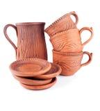 Set of Ceramic Dishes Stock Photo