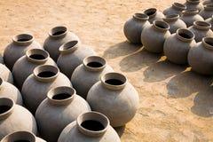 Set of ceramic jars Stock Image