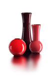Set of ceramic vases Stock Image