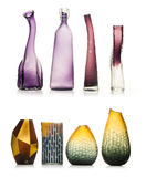 Set of ceramic vases isolated on white background. Clipping Path Included Stock Photography