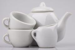 Set ceramiczny artykuły na białym tle obraz royalty free