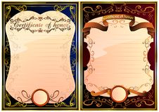 Set of certificate of honor. 03 (Vector) Royalty Free Stock Images