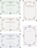 A set of certificates. Template certificates, diplomas, letters, Royalty Free Stock Images