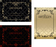 Set certificates template in vector for achievement graduation c. Ompletion Royalty Free Stock Image