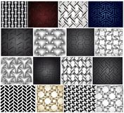 Set chainlink fence isolated against on metal Royalty Free Stock Photography
