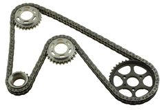Set of chains with gears Stock Photo