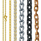 Set of chains. Stock Images